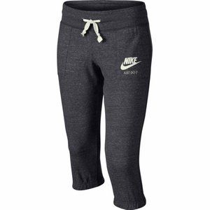 Nike Youth Girls Vintage Capris Pants Grey White